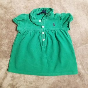 emerald green Ralph Lauren swing polo